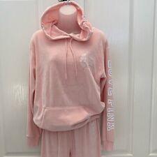 PINK Victoria's Secret Peach/Pink 2pc Hoodie/Pant Set Sz XS/S