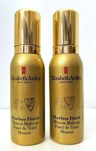 2 pk ELIZABETH ARDEN Flawless Finish Mousse Makeup 50 ml SPARKLING BLUSH 01 u/b