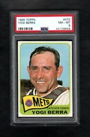 1965 TOPPS #470 YOGI BERRA HOF METS PSA 8 NM/MT++ CENTERED!