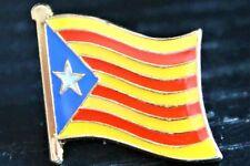 CATALAN CATALONIA Catalonian Metal Flag Lapel Pin Badge *NEW*