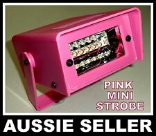5 LED PINK Mini Strobe Flashing Light For Party Disco Stage AUSSIE SELLER