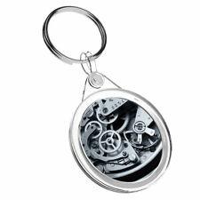 1 x Mechanical Watch Clock Cogs - Keyring IR02 Mum Dad Kids Birthday Gift #2258