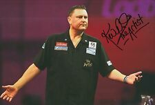 Kevin 'The Artist' Painter Hand Signed 12x8 Photo Darts 2.