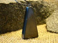 shungit trapeze pendant from Karelia aura of magic stone amulet