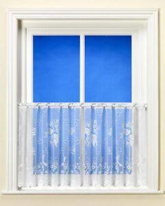 "Birdsong / Lovebird Café Net Curtain - Drops 30cm (12""), 46cm (18""), 61cm (24"")"