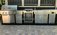 Ultimate Outdoor Kitchen w/ SMOKER, GRILL, SINK, GRANITE + more!