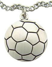 """MRT St Sebastian Mens Sterling Silver Soccer Player Medal Gift w Chain Boxd 3/4"""""""