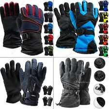 Men Winter Outdoor Thick Sports Ski Thermal Insulation Waterproof Gloves Mittens