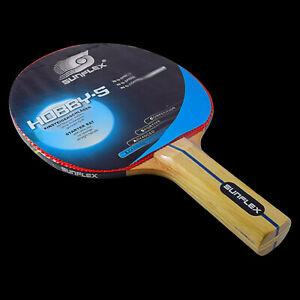 SUNFLEX HOBBY S Beginner Learner Starter Learning Table Tennis Bat No Sponge