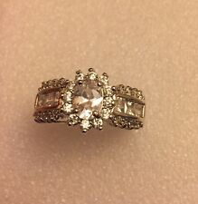 White  Diamond 10KT White Gold Filled Jewellery Size 10