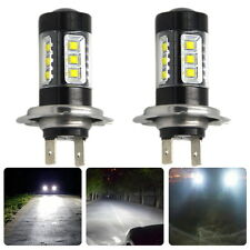 2X H7 80W 800lm 16-XBD LED Cool White Car Lamp (12~24V) Backup Vehicles Bulb NEW