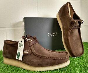 Clarks Originals Wallabee Men's Low Dark Brown Suede Boots Shoes UK 12 EU 47