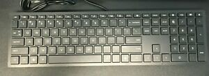 HP Lifestyle TPC-P001K 928510-001 USB Wired PC Keyboard only black