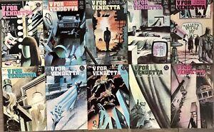 V For Vendetta #1,2,3,4,5,6,7,8,9,10 Complete Set Alan Moore (1988) DC Comics