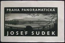 Praha Panoramaticka by Josef Sudek, First Edition with Original Dust Jacket 1959