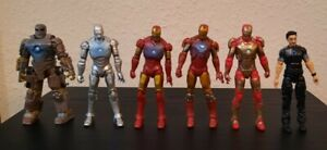 Marvel Universe Hall of Armor 3.75 inch Figure Set Iron Man 3 Tony Stark Loose