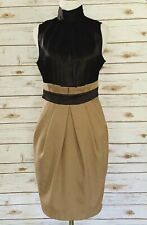 Ladies Juniors Rhapsody Black And Beige Dress Size Medium
