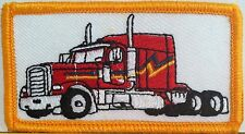 RED TRUCK  Iron-On Custom Patch  Emblem Gold Border