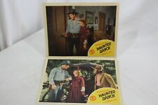 "2 Haunted Ranch Range Busters 1943 Original Movie Lobby Card 11"" x 14"" Western"