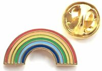 Arcoiris LGBT ORGULLO INSIGNIA CON ALFILER DE SOLAPA ESMALTADA