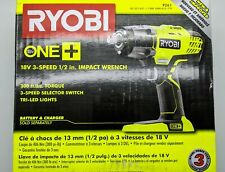 Ryobi P261 18V ONE+ 1/2 in. Cordless 3-Speed Impact Wrench (Tool-Only)