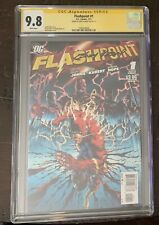 Flashpoint #1 CGC 9.8 White Pages Flash DC Comics 2011 Signed By Kubert