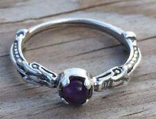 Celtic Dragon Ring .925 Sterling Silver sz 7 w/ Genuine Amethyst gemstone