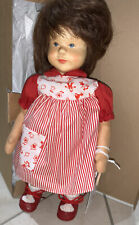 Hildegard Kramer Wooden Head Doll with Cloth Body, Fine Detail, made in Germany.
