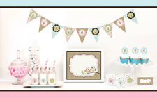 Woodland Owl Baby Shower Party Decorations Starter Kit