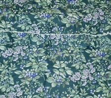 Awesome LAURA ASHLEY BRAMBLE SHOWER CURTAIN FABRIC  ~ GREEN BLUE BERRIES
