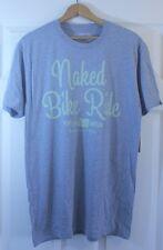 NWT Mens Oregon Naked Bike Ride Keep Portland Weird Portlandia Gray T-Shirt Sz M