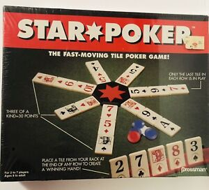 Star Poker The Fast Moving Tile Poker Game Pressman Toy 1994 New Factory Sealed