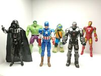 Set 6. Action Figures Various In Good Condition Size 11 Inches.Look At Photos