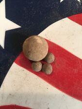 BUCK N BALL CIVIL WAR BULLET GROUP DUG MANASSAS BATTLEFIELD NORTHERN VIRGINIA