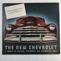 1947 Chevrolet Full Lineup Sales Brochure Fleetline Fleetmaster Stylemaster