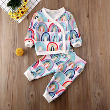 NEW Rainbow Baby Girls Long Sleeve Kimono Outfit Set