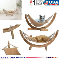 Wood Cat Hammock Fur Bed Hanging Cage Ferret Rest House Soft Pets Supplies USA