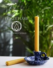 2 x 100% PURE BEESWAX candles, 20cm x 2 cm,  Eco-friendly