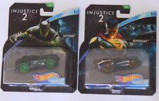 NEW! HOT WHEELS CARS ~ DC COMICS ~ INJUSTICE 2 ~ BATMAN + SUPERMAN CHARACTER CAR
