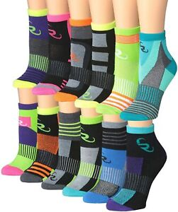 Ronnox Women's 12-Pairs Running & Athletic Sports Performance Ankle/Quarter Sock