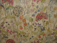 Voyage Decoration Hedgerow Linen Floral Designer Curtain Upholstery Fabric
