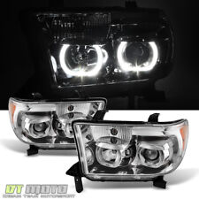 For 2007-2013 Toyota Tundra Sequoia LED Halo Projector Headlights Left+Right Set
