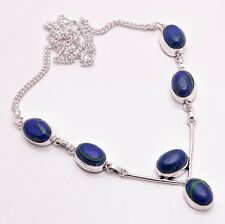 925 Sterling Silver Overlay Necklace, Handmade Gemstone Fashion Jewelry PN688