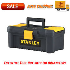 12-1/2 in. Tool Box Portable Storage Lid Organizers Large 1 Gallon Capacity