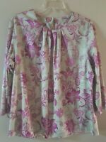 Vintage Blair Women's Size Large Floral Shirt Long Sleeve Top Blouse Pleated