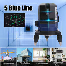 Laser Level 5 Line Blue Self Leveling Outdoor 360° Rotary Cross Measure