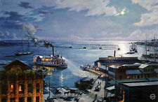 "John Stobart Print - Jacksonville: The ""City of Jacksonville"" Returning Home"