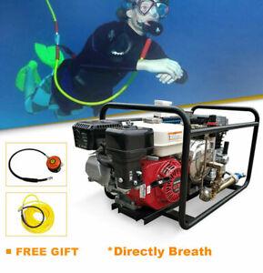 Scuba Diving Air Compressor Honda Gasoline Pump W/Hose+Regulator For Aquaculture