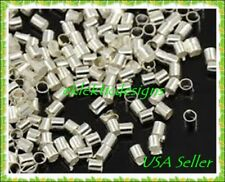 500pcs Silver Plated Crimp Tubes Beads Jewelry Findings Earrings Necklace