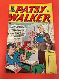 PATSY WALKER # 33 (1951) MARVEL  - TEENAGE  COMIC BOOK - GOLDENAGE ROMANCE